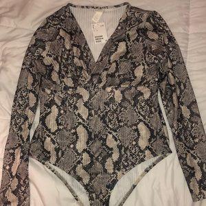 H&M Snakeskin Bodysuit